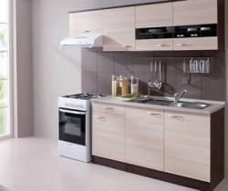 Decodom 941347 Nela kuchynský blok 210A dub tmavý/jaseň coimbra s celou pracovnou doskou PD150